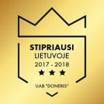 """Stipriausi Lietuvoje UAB """"Doneris"""""""